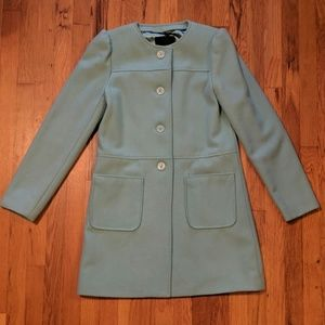 Mossimo Light Blue Wool Coat